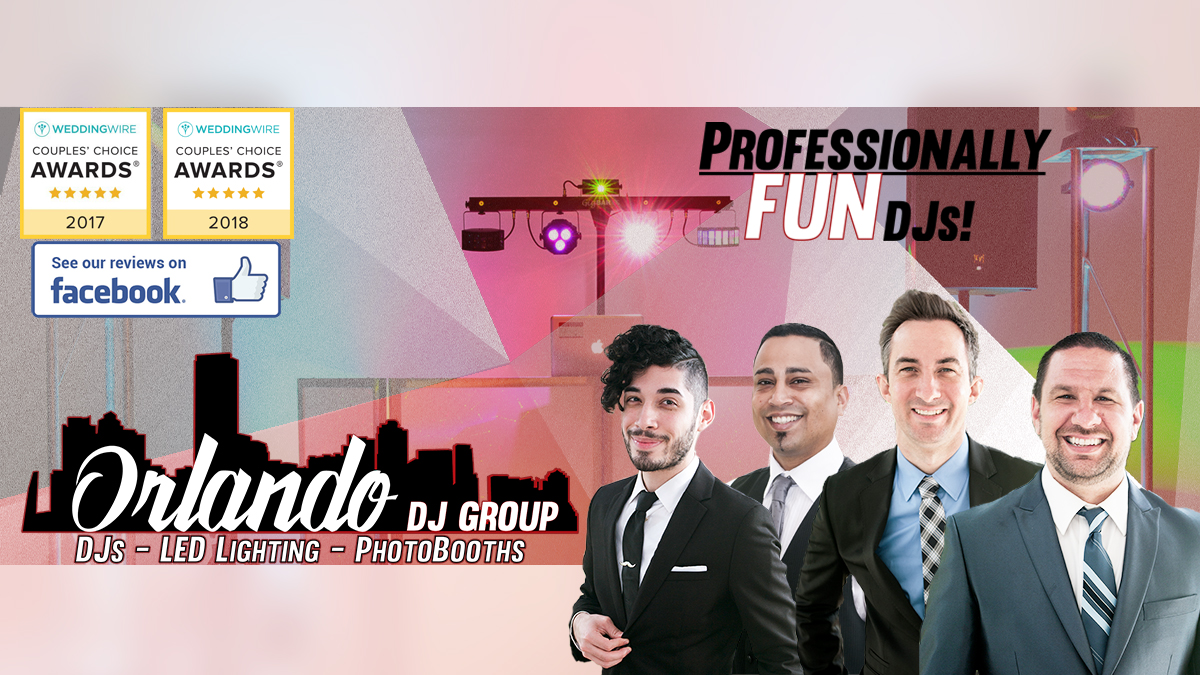 Orlando Wedding DJs, Orlando Corporate DJs. Professionally FUN DJs in Orlando